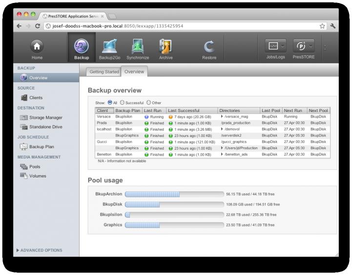 Screenshot P4 Storage Pool Capacity