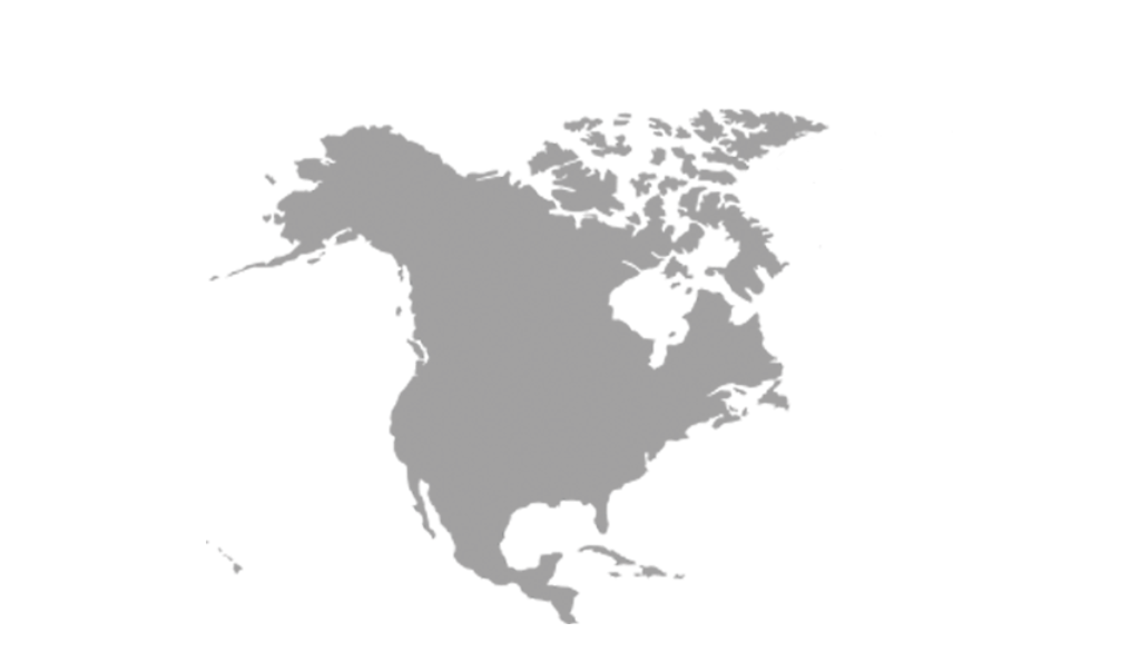 Map North America grey