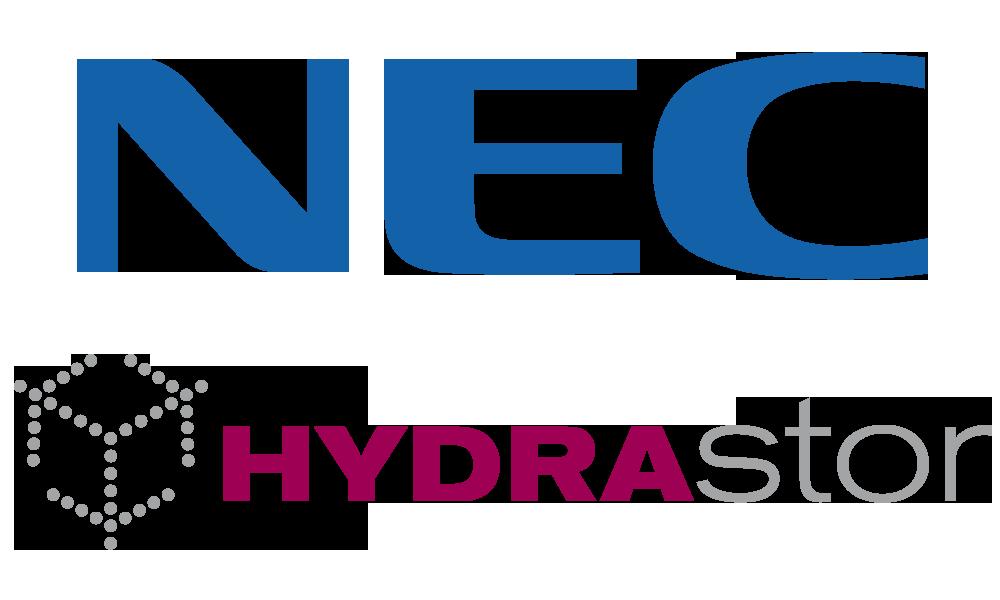 Logo NEC HYDRAStor combined