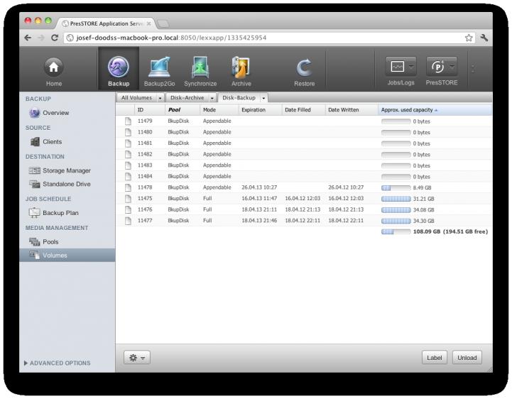 Screenshot P4 Customizable Overviews